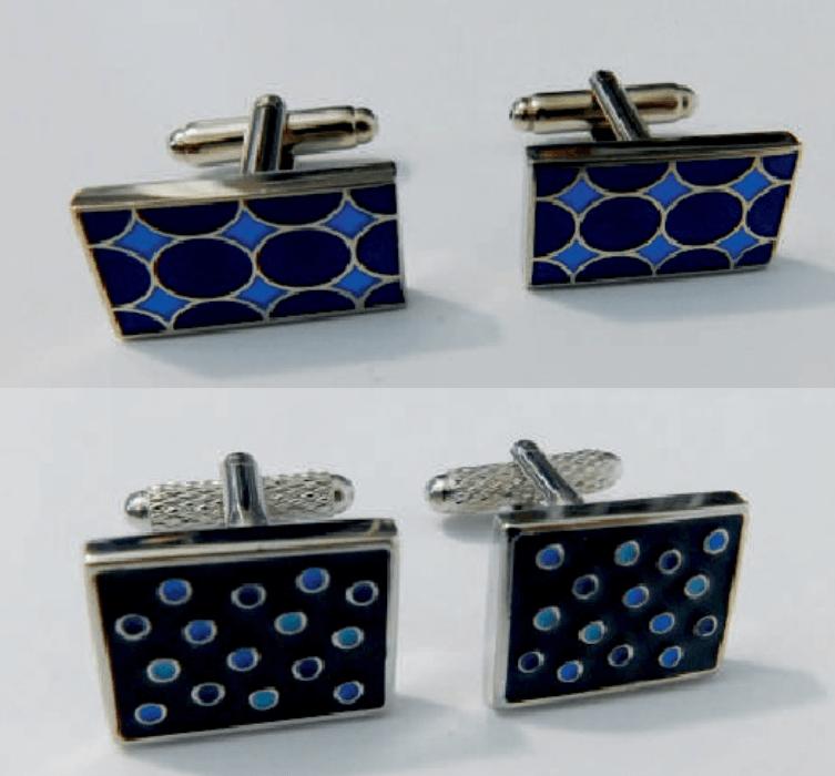 gemelos para traje dibujos azules