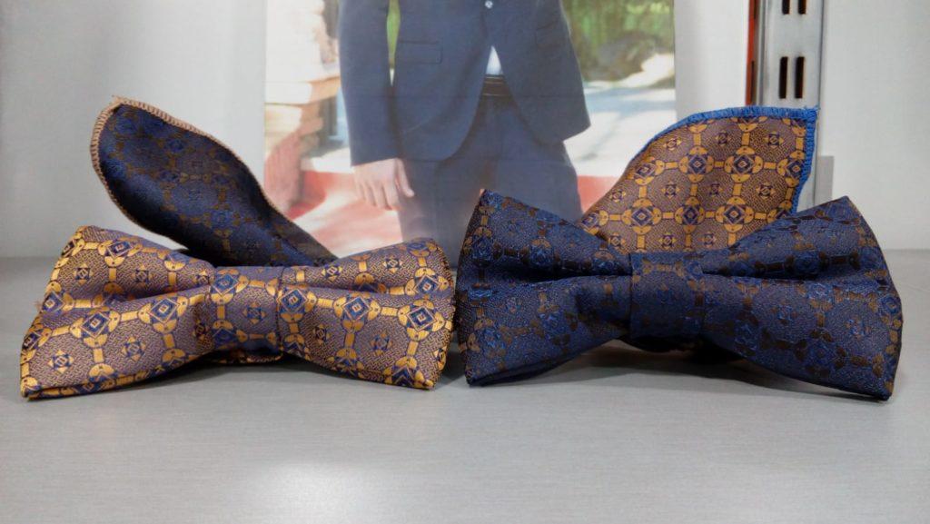 pajaritas dorada y azul estampada con pañuelo 2019 conecta