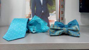 corbata y pajarita azul con pañuelo 2019 conecta