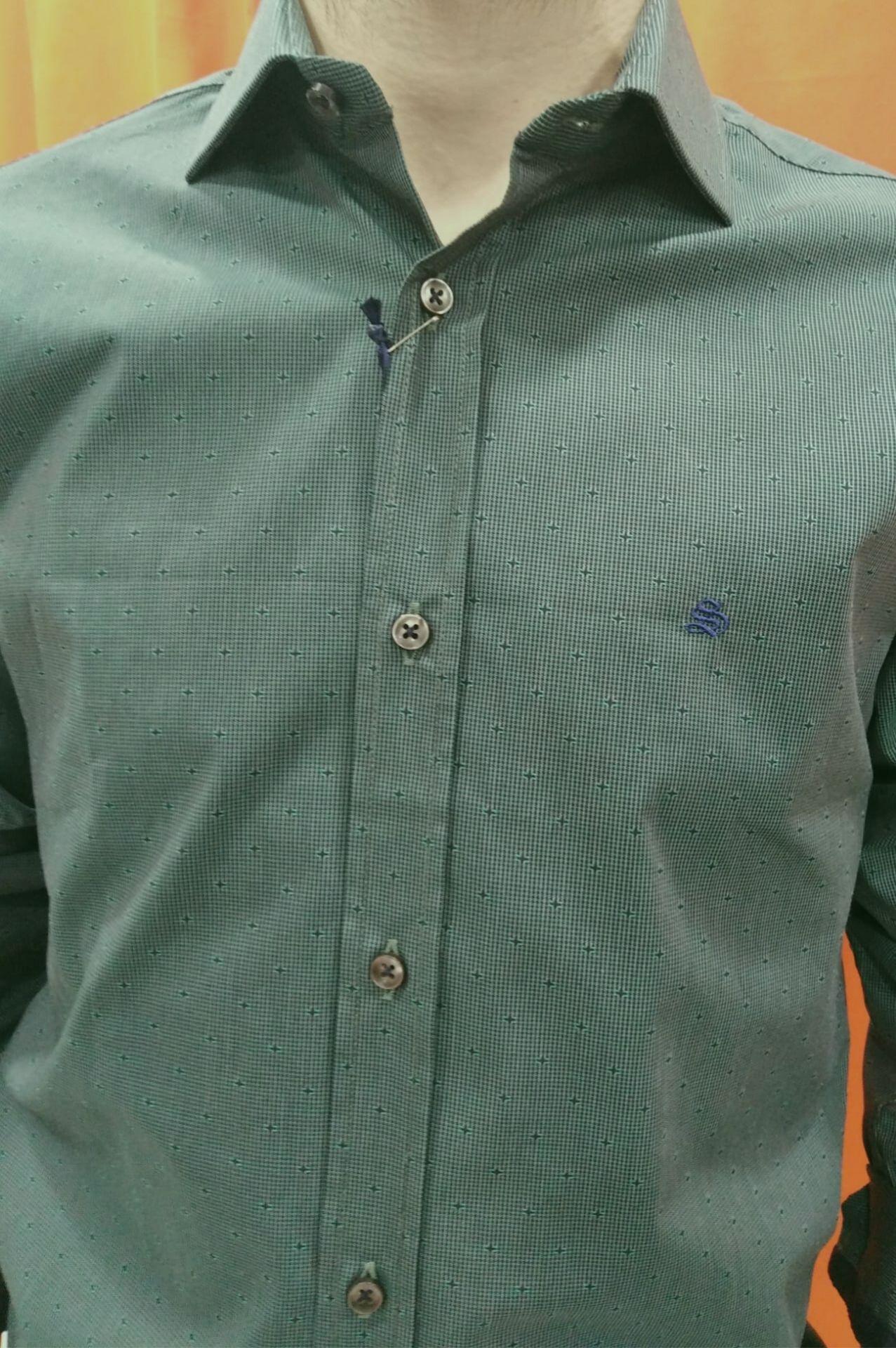 camisa topitos 2 verde
