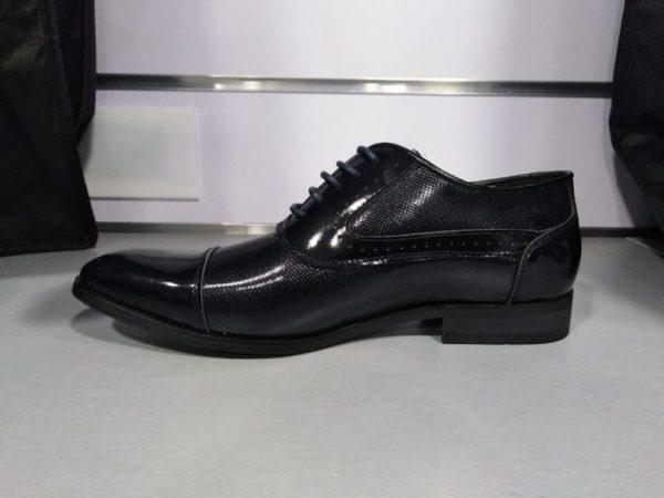 Zapato de vestir semiliso en marino