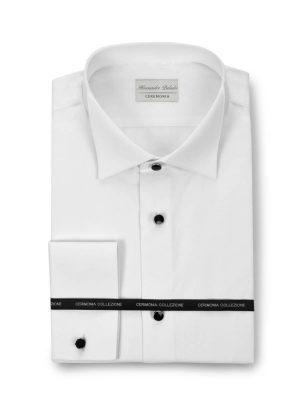 Camisa blanca con botones negros para traje Conecta Moda Joven