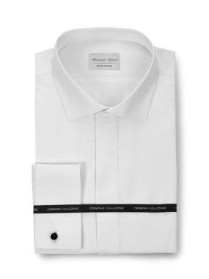 Camisa blanca con tapeta para traje Conecta Moda Joven