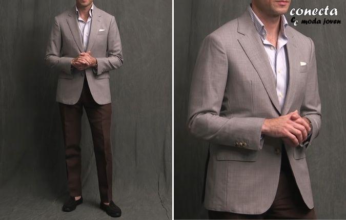 Conjunto de sport con americana de traje gris clara