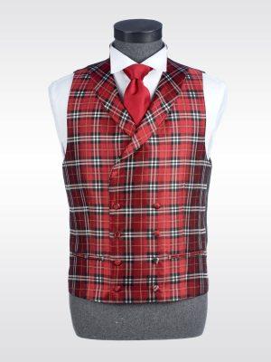 Chaleco de cuadros rojo para traje Conecta Moda Joven Granada
