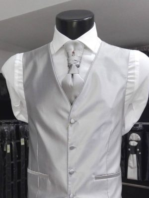 Chaleco gris claro para traje Conecta Moda Joven