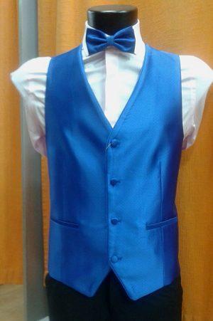 Chaleco para traje azul liso