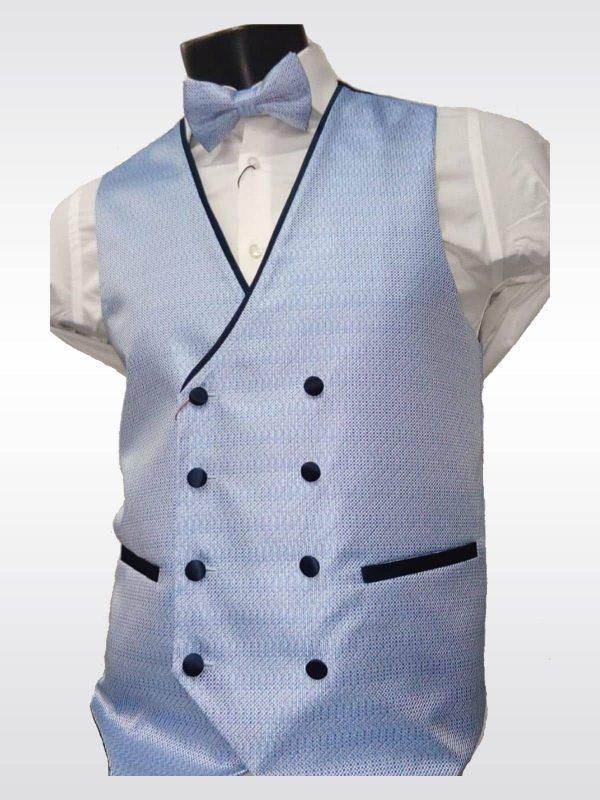Chaleco cruzado azul para traje Conecta Moda Joven Granada