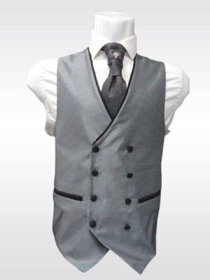 Chaleco cruzado gris para traje Conecta Moda Joven Granada