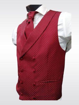 Chaleco cruzado rojo para traje Conecta Moda Joven Granada