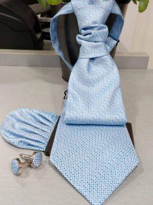 Corbata celeste con pañuelo Conecta Moda Joven Granada