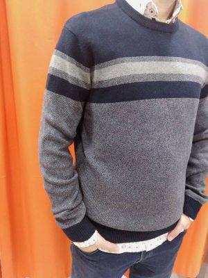 Jersey de rayas azul marino y gris Conecta Moda Joven Granada