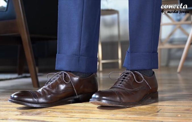 Largo de pantalón de traje sin descanso