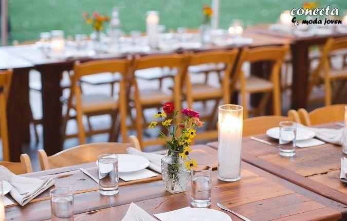 Mobiliario para boda en el campo