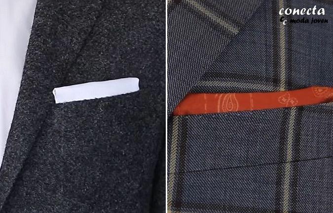 Pañuelo con pliegue recto cerrado