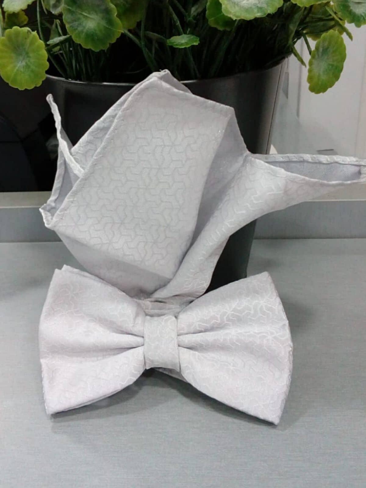 Pajarita blanca con pañuelo Conecta Moda Joven Granada