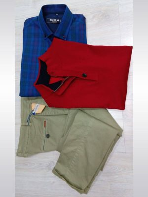 Pantalón chino de vestir caqui entallado slim fit Conecta Moda Joven Granada