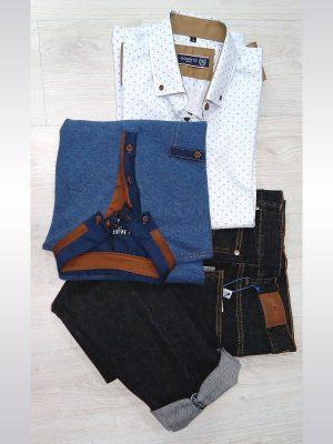 Pantalones vaqueros negros entallados slim fit para hombre Conecta Moda Joven