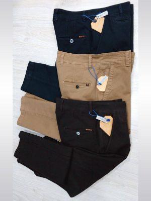 Pantalones chinos de vestir entallados slim fit en color azul marino, beige y marrón Conecta Moda Joven Granada