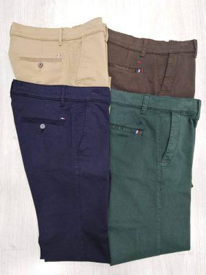 Pantalones chinos de vestir en los colores beige, marrón, azul marino y verde Conecta Moda Joven Granada