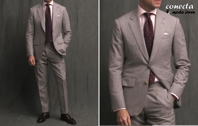 Traje gris claro formal