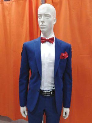 Traje liso azul entallado slim fit Conecta Moda Joven Granada