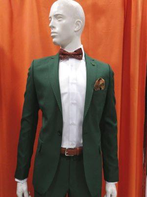 Traje liso verde entallado slim fit Conecta Moda Joven Granada