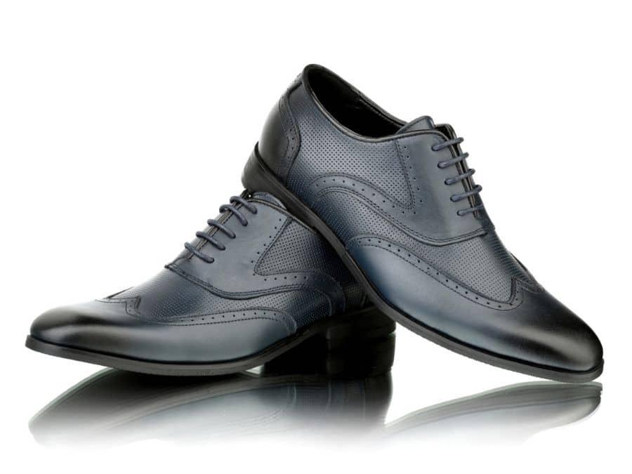 Zapato de piel azul para traje Conecta Moda Joven Granada