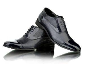 Zapatos azul marino para traje Conecta Moda Joven