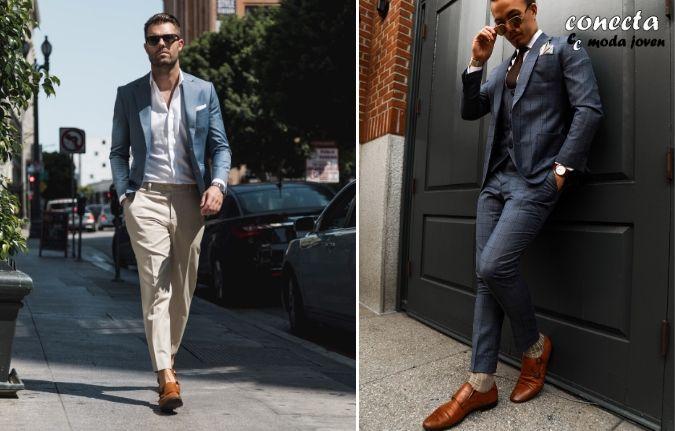 Zapatos sin calcetines y zapatos con calcetines